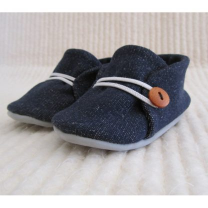 Blue Denim Baby soles