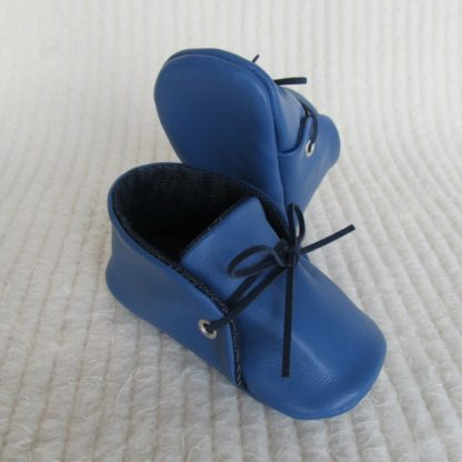 Blue Leather Baby Soles