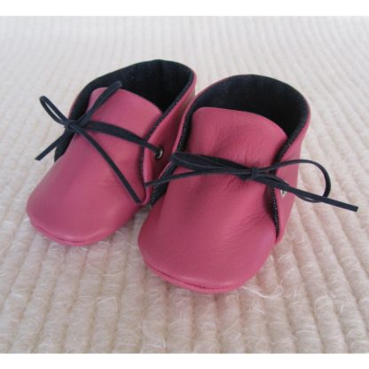 Pink Leather Baby Soles